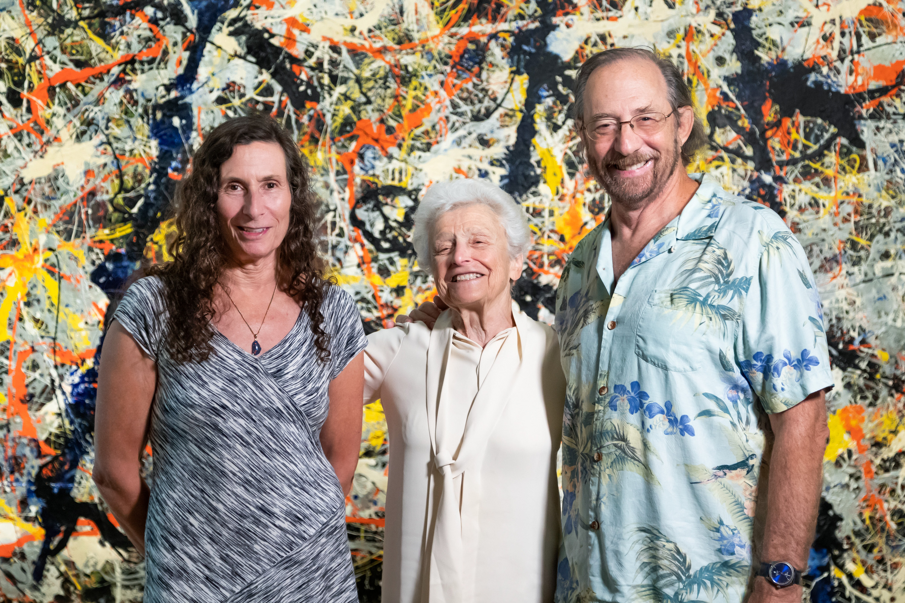 The Heller family visited Blue poles at the National Gallery of Australia in 2015