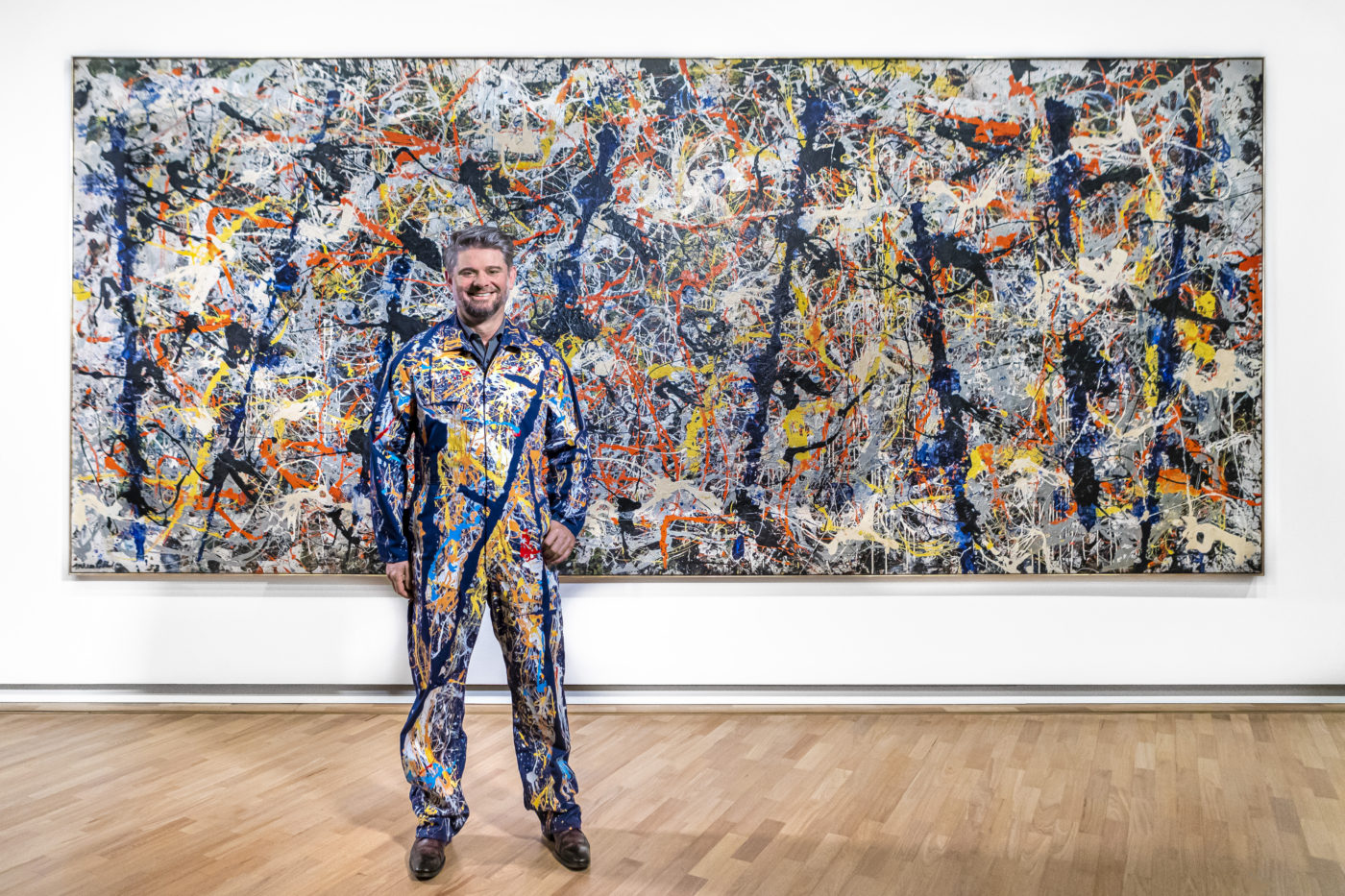 Nick Mitzevich with Jackson Pollock's 'Blue poles'