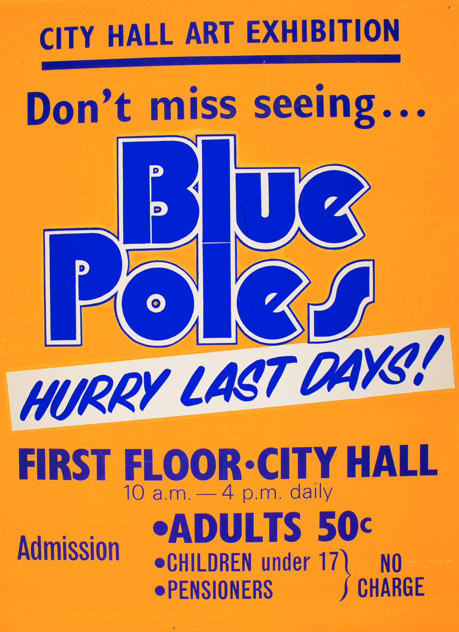 Blue poles Brisbane City Hall 1974 poster